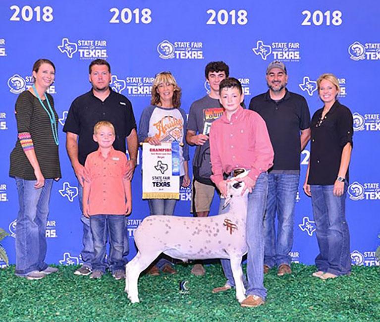 Champion Dorper Wether 2018 State Fair of Texas Congratulations Evan Sylvester