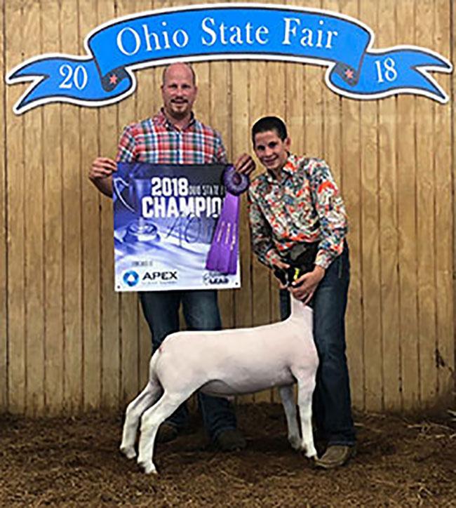 Champion AOB 2018 Ohio State Fair Congrats Roeth Family