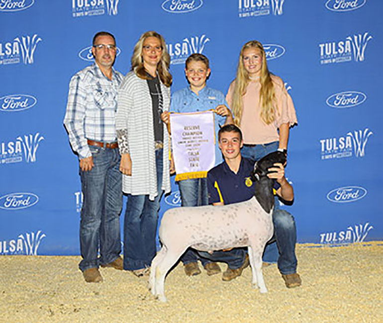 Champion Hair Sheep 2019 TulsaState Fair  Congratulations Anderson Family