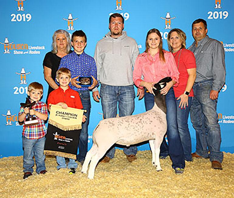 Champion Dorper 2019 Houston Livestock Show Congratulations Cassidi DeArmond