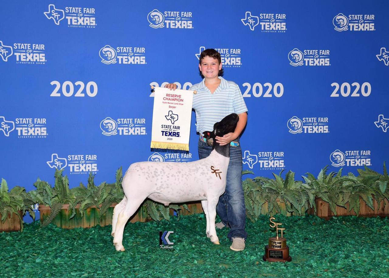 Reserve Champion Dorper 2020 State Fair of Texas Congratulations Hadley Johnson!