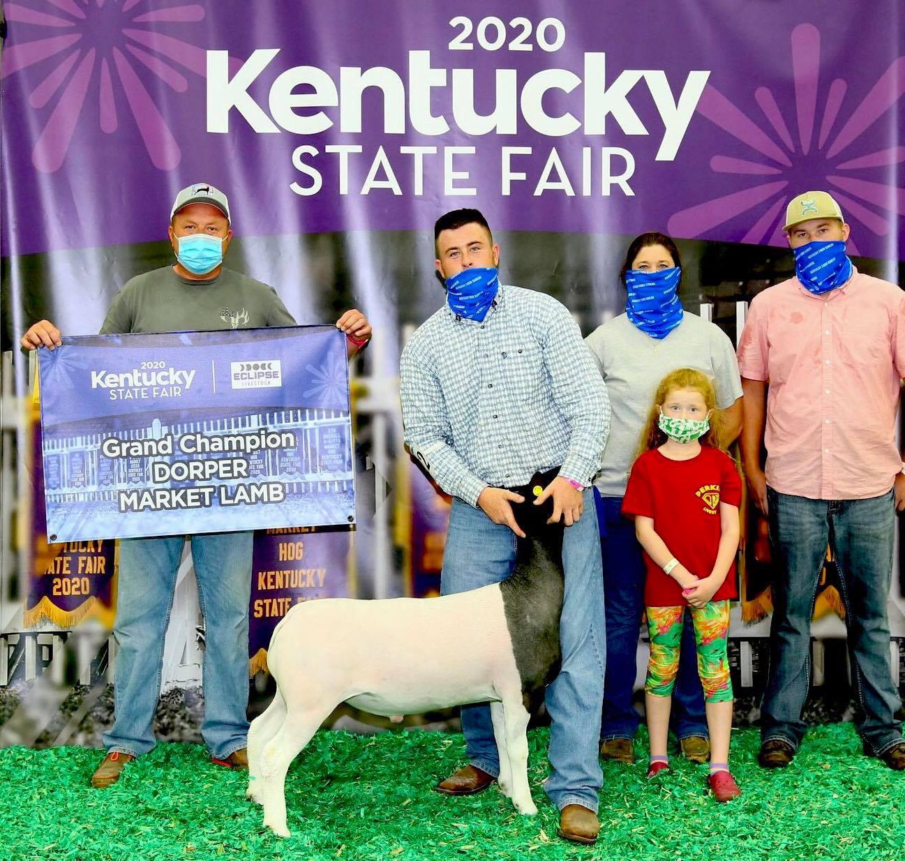 Champion Dorper 2020 Kentucky State Fair Congratulations Perkins Family!