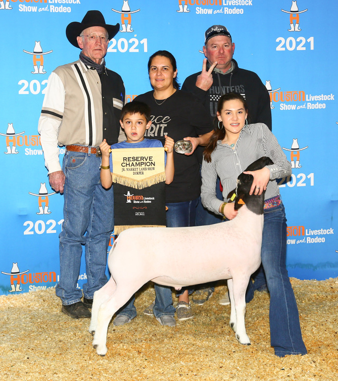 Reserve Champion Dorper 2021 Houston Livestock Show  Congratulations Peyton Hanley!