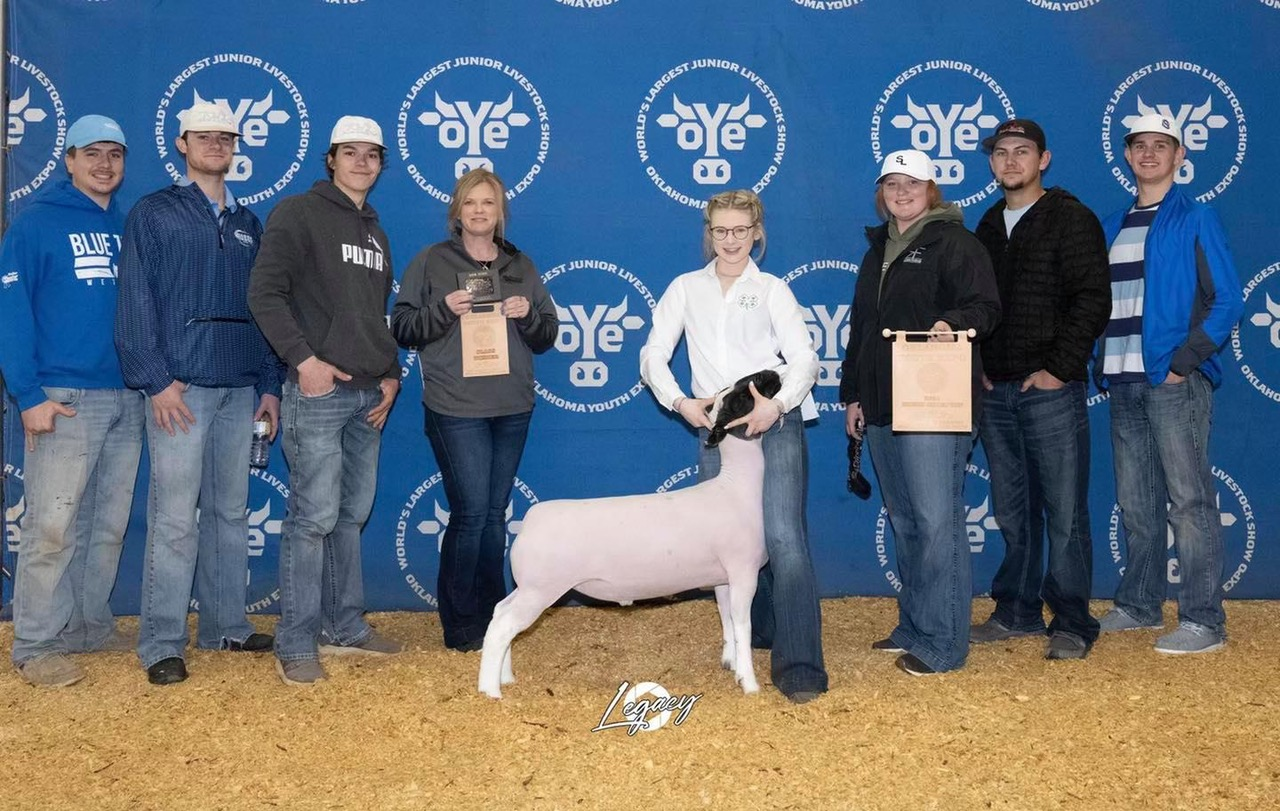 Champion Hair Sheep 2021 OYE Congratulations Kenna Gay!